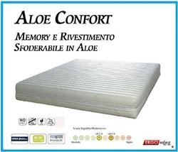 Materasso Memory Foam Mod. Aloe Confort 180x190/195/200 Anallergico Sfoderabile Altezza Cm. 21 - Ergorelax