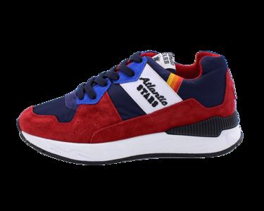 Sneakers Atlantic Stars Cetus rosso e blu in pelle scamosciata Fnf I02