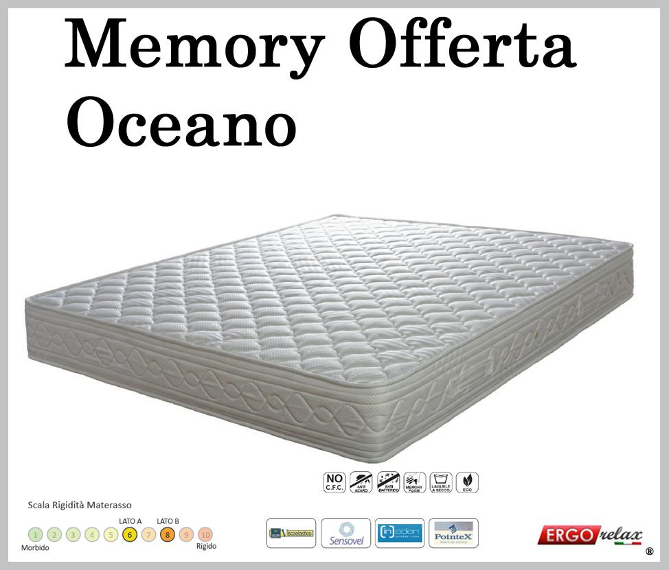Materasso Memory Mod. Oceano 180x190/195/200 Altezza Cm. 22 - Ergorelax