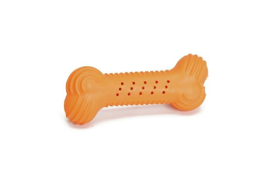 Camon Ad045/A Gioco Per Cani Osso Arancione In Gomma Naturale 10 cm