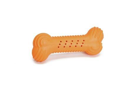 Camon AD045/B Gioco Per Cani Osso Arancione In Gomma Naturale 14 cm