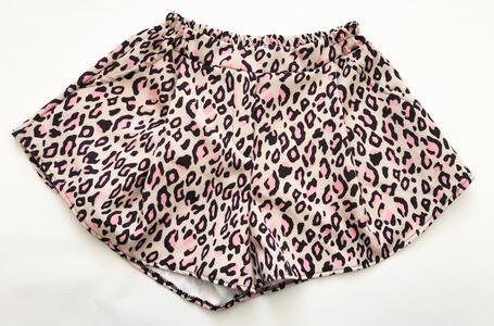 Pantaloncini leopardati a campana