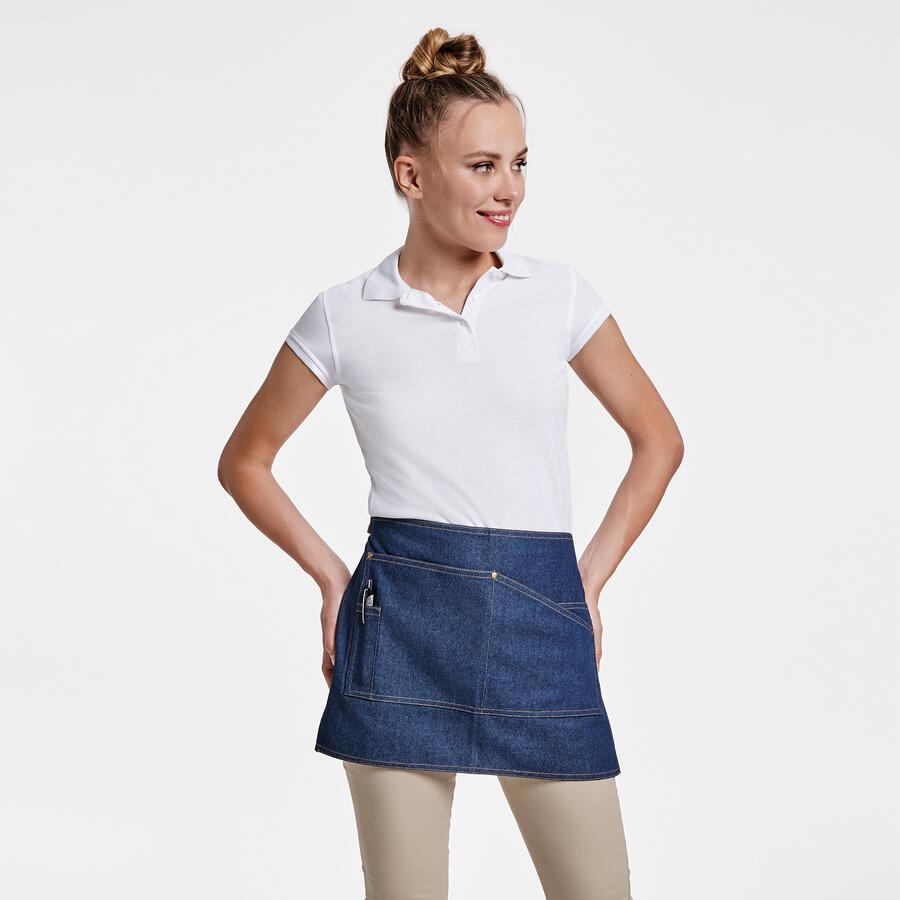 Grembiule corto in jeans
