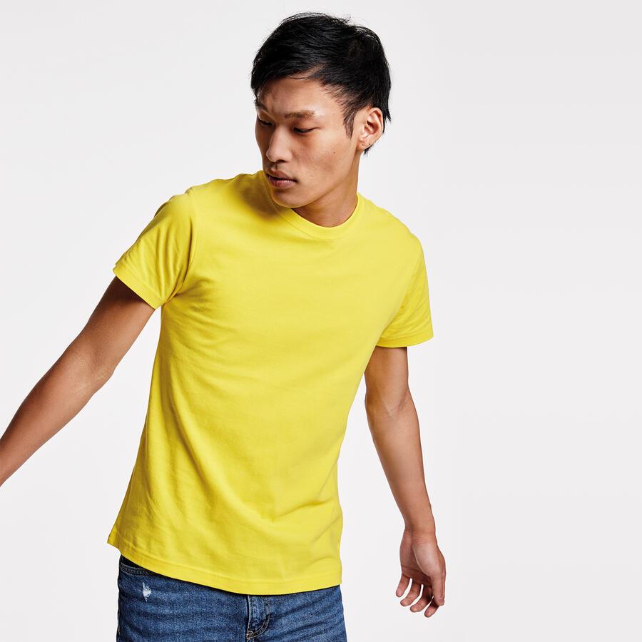 T-shirt giallo colore 3 mezza manica
