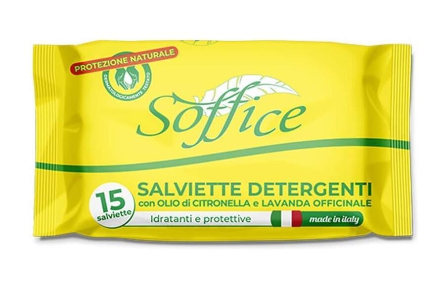 Soffice Salviette Antizanzare alla Citronella e Lavanda Officinale 1 confenzione x 15 salviette - 80 g