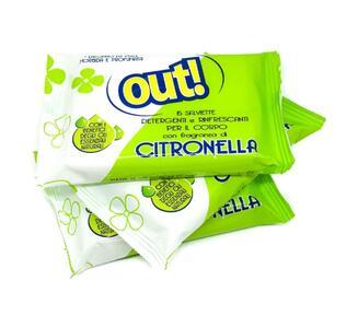 Out! Salviette Antizanzare Rinfrescanti Detergenti Per Bambino Alla Citronella Protezione Per Il Corpo Antipuntura Protezione Per Oltre 5 Ore 3 Confezioni Da 15pz
