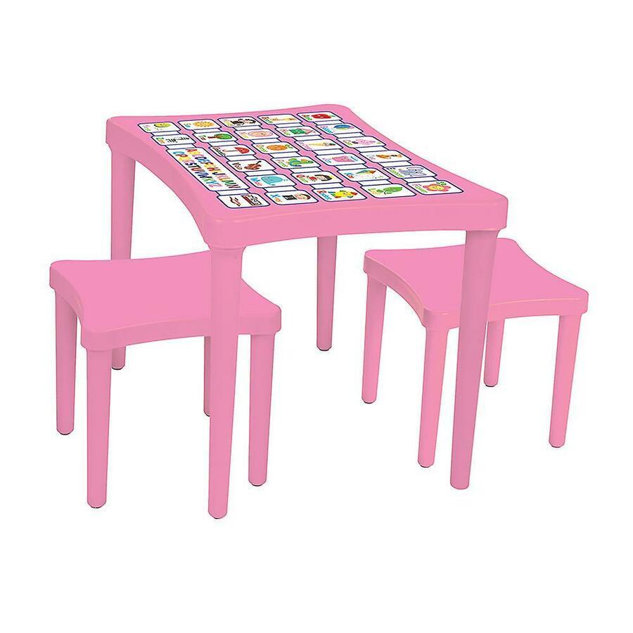 Tavolo per Bambini con 2 sgabelli rosa - Pilsan 03-493 - 3+