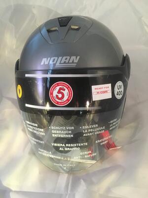 Casco Nolan N42E Classic N-Com Artic Grey Taglia XS