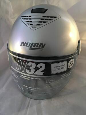 Casco Nolan N32 Genesis N-Com Chrome Silver Taglia XS