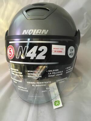 Casco Nolan N42 Classic N-Com Titanium Grey Taglia XS