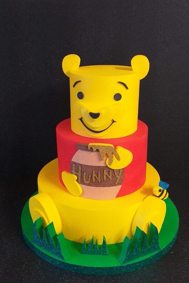 Torta scenografica Tema Winnie the pooh