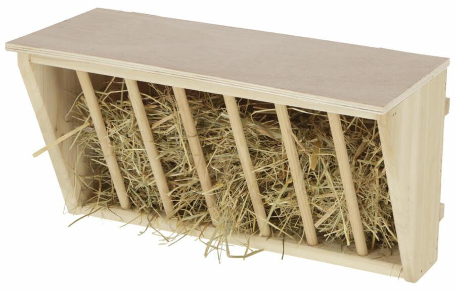 Rastrelliera da fieno con seduta in legno extra large