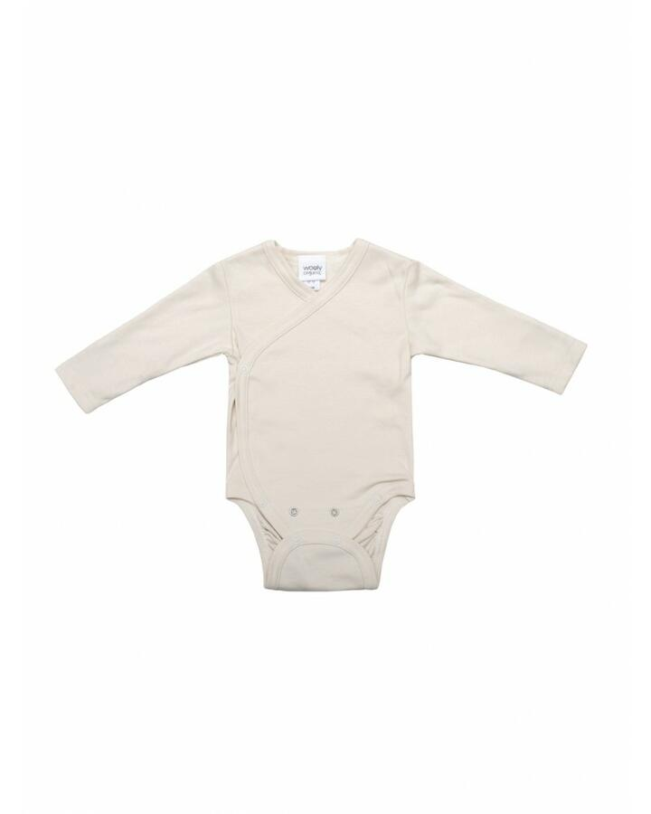Body Maniche Lunghe in Cotone Gots - Bianco ecrù