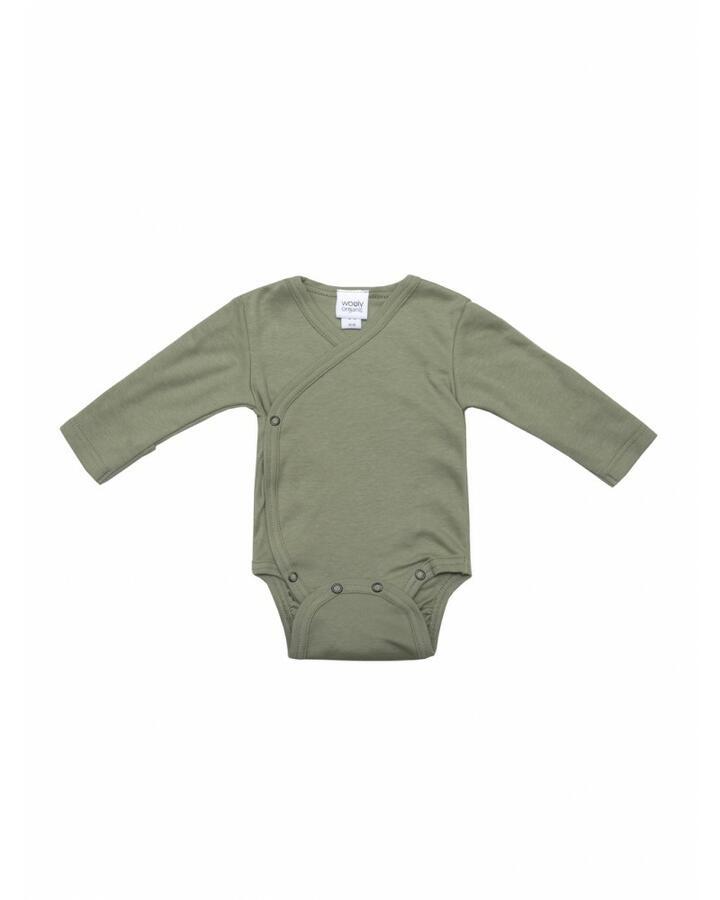 Body Maniche Lunghe in Cotone Gots - Sage green