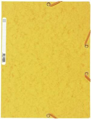 EXACOMPTA Cartellina  con elastico A4 giallo