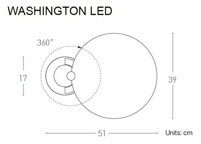 Lampada da Tavolo Washington LED di Lumen Center Italia, Varie Finiture - Offerta di Mondo Luce 24