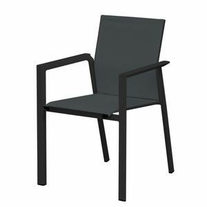 Sedia da giardino professionale NASHVILLE in alluminio grigio antracite MCH 01