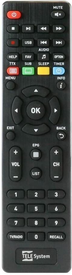 TELESYSTEM TS9018 Full HD HEVC H.265 Smartcard HDMI DVB-S2 Ricevitore satellitare con Tivusat attivo HD
