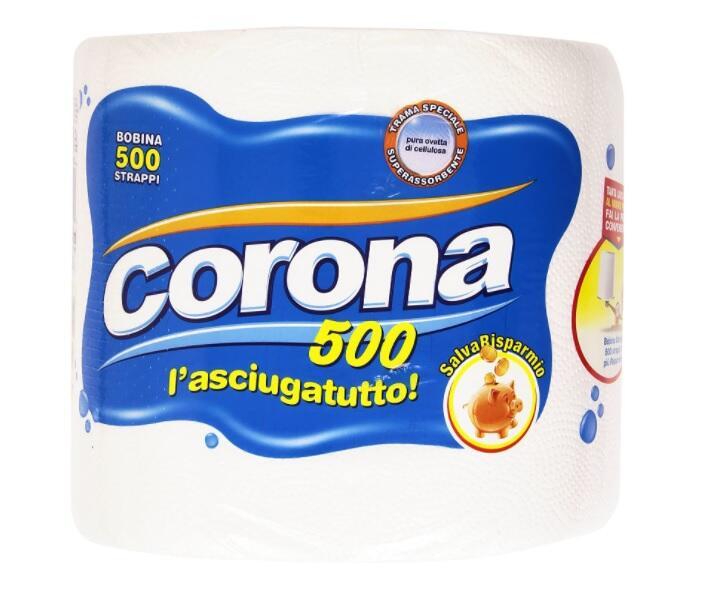 Corona - L'Asciugatutto, 500 Strappi - 1 Bobina