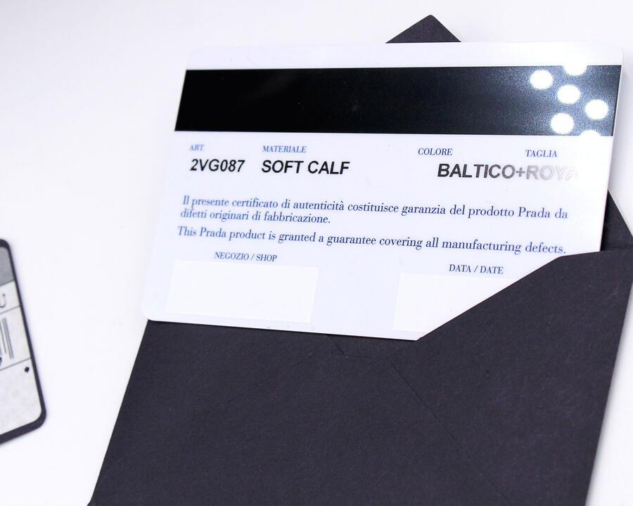 Borsa a mano unisex Prada in vera pelle vitello soft calf con certificato di autenticità 2vg087
