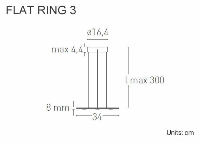 Lampada a Sospensione FLAT RING 3 al LED di Lumen Center Italia, Varie Finiture - Offerta di Mondo Luce 24