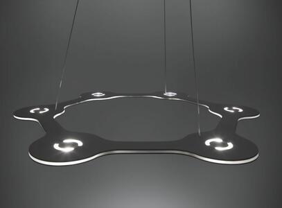 Lampada a Sospensione FLAT RING 6 al LED di Lumen Center Italia, Varie Finiture - Offerta di Mondo Luce 24