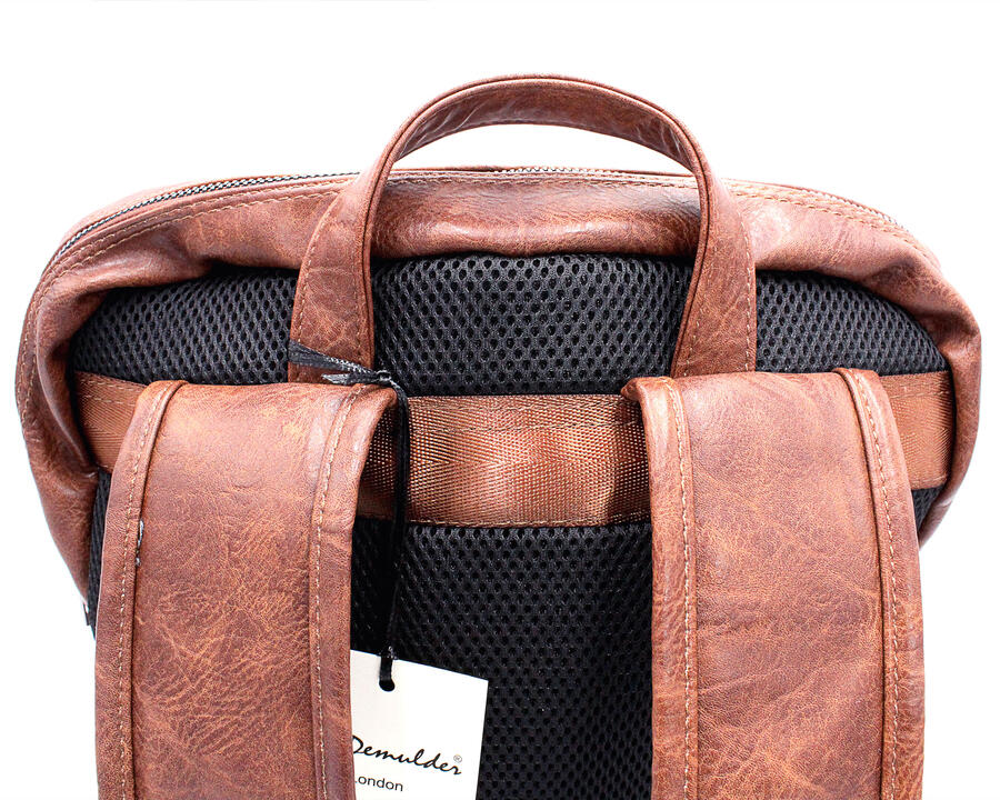 Zaino notebook Wil Demulder London in pelle cognac unisex usb