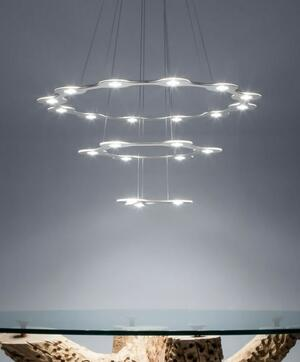 Lampada a Sospensione FLAT RING 12 al LED di Lumen Center Italia, Varie Finiture - Offerta di Mondo Luce 24
