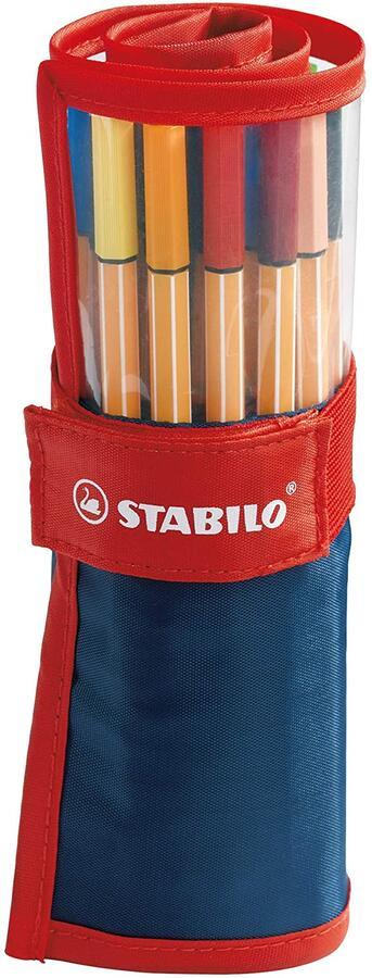 Fineliner - STABILO point 88 - Rollerset con 25 Colori assortiti