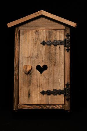 Casetta porta chiavi legno vecchio