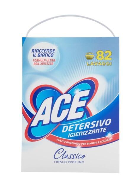 Ace Detersivo Igienizzante 82 Lavaggi x 5330 g