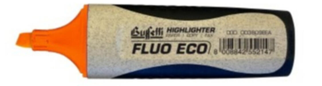 EVIDENZIATORE FLUO GRIP ECOLOGICO ARANCIONE - Buffetti 003809EEA