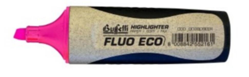 EVIDENZIATORE FLUO GRIP ECOLOGICO ROSA - Buffetti 003809EER