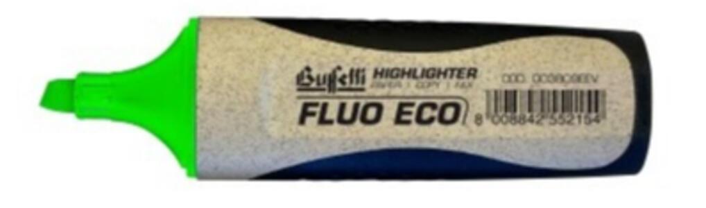 EVIDENZIATORE FLUO GRIP ECOLOGICO VERDE - Buffetti 003809EEV