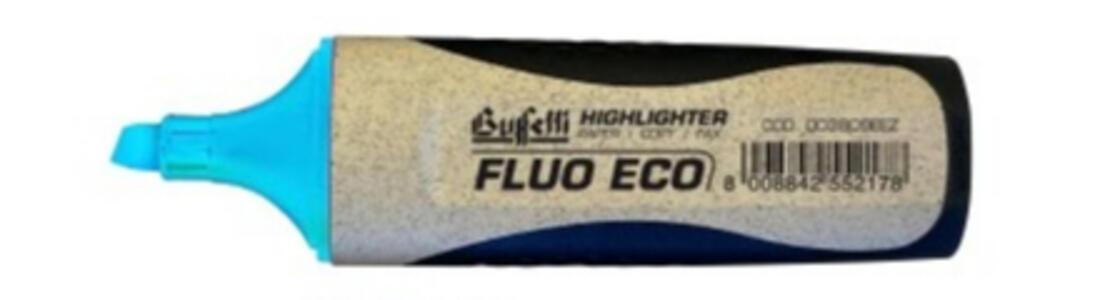 EVIDENZIATORE FLUO GRIP ECOLOGICO AZZURRO - Buffetti 003809EEZ