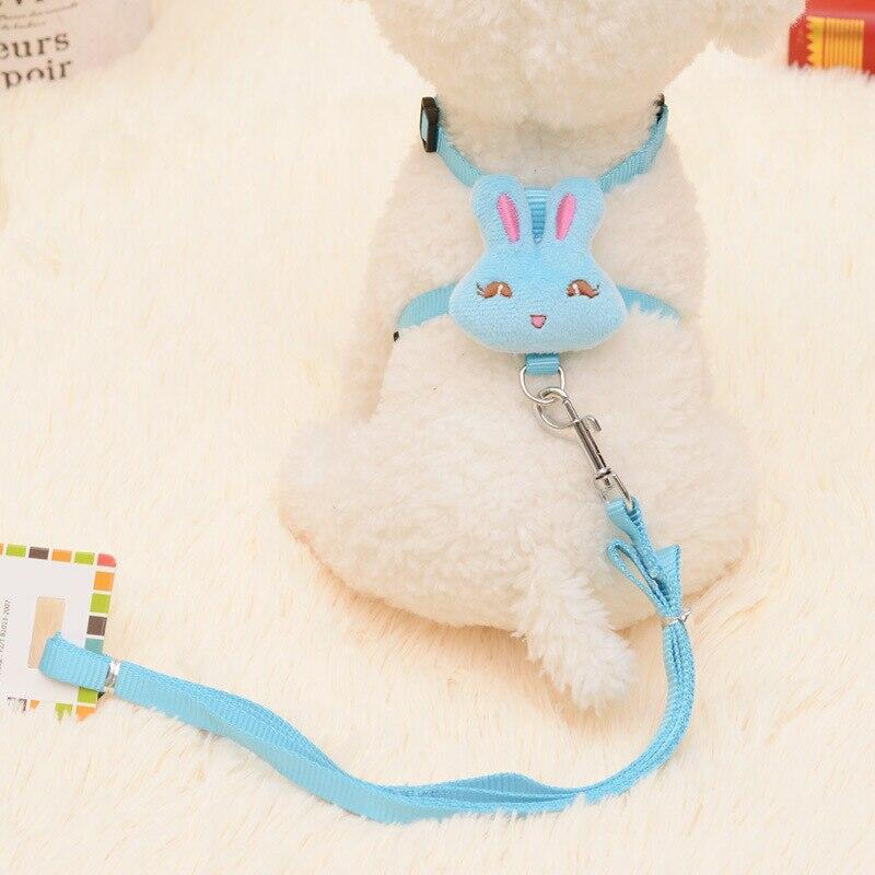 Pettorina Blu con applicazione a forma di coniglio - Azzurra