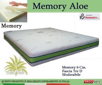 Materasso Memory Mod Memory Aloe  da Cm 120x190/195/200 Sfoderabile - Ergorelax