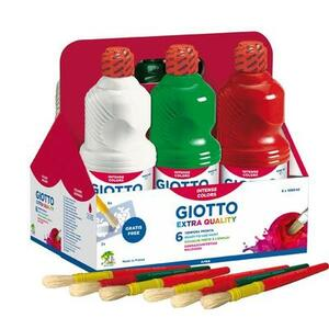 SCHOOLPACK 6 FLACONI TEMPERA PRONTA 1000 ML GIOTTO FILA