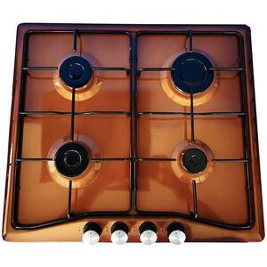 LAREL Piano Cottura L848M a Gas 4 Fuochi Gas Colore Marrone