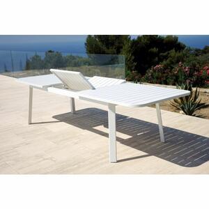 Tavolo da giardino pesante DETROIT in alluminio bianco 225 / 300 largo 100 cod MTV 03 B