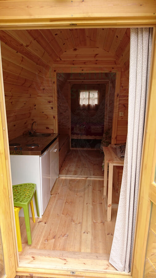 Camping Pod in legno di pino nordico Mod. LAILA 2,40 x 5,90 – 46mm