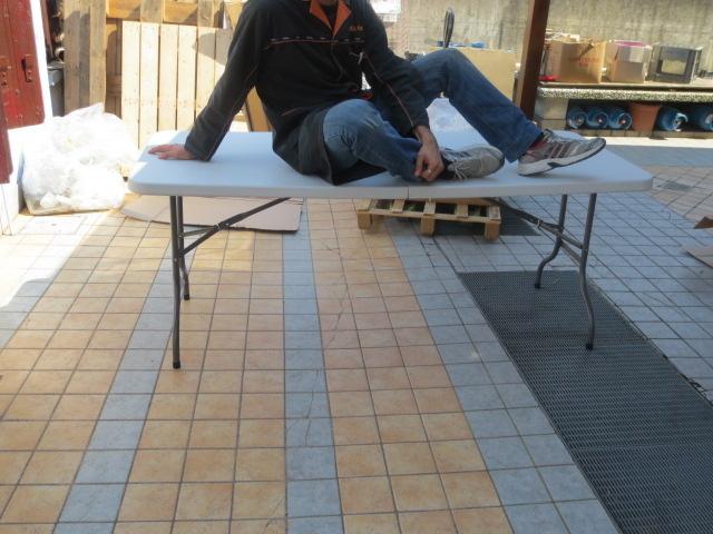 Tavolo pieghevole rettangolare  MIGLIORE 183 x 76 x 74 per catering sagre mercatini buffet riunione