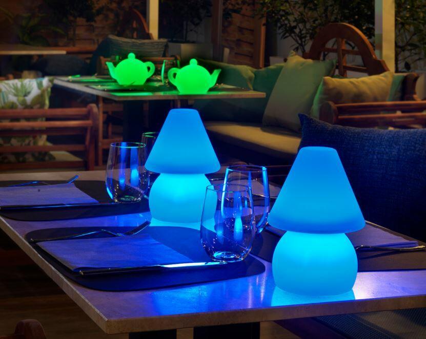 Lampada Ricaricabile e Portatile TEA LIGHT al LED in Polietilene di Lyxo Design - Offerta di Mondo Luce 24