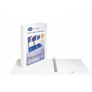 Cartella personalizzabile Dual Pocket bianco a 4 anelli tondi diametro 25 mm - BUFFETTI 7646E2500