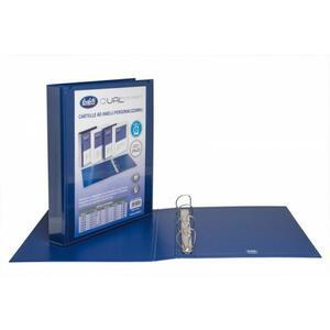 """Cartella personalizzabile Dual Pocket blu a 4 anelli a """"D"""" diametro 30 mm - BUFFETTI 7646E3010"""