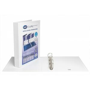 """Cartella personalizzabile Dual Pocket bianco a 4 anelli a """"D"""" diametro 40 mm - BUFFETTI 7646E4000"""