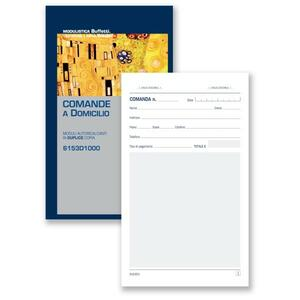 BLOCCO COMANDE CONSEGNE A DOMICILIO DUPLICE COPIA 25X2 AUTORICALCANTE - BUFFETTI 6153D1000