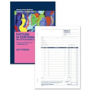 BLOCCO FATTURE DI CORTESIA 1 ALIQUOTA TRIPLICE COPIA 33X3 AUTORICALCANTE A4 - BUFFETTI 6371FEG00