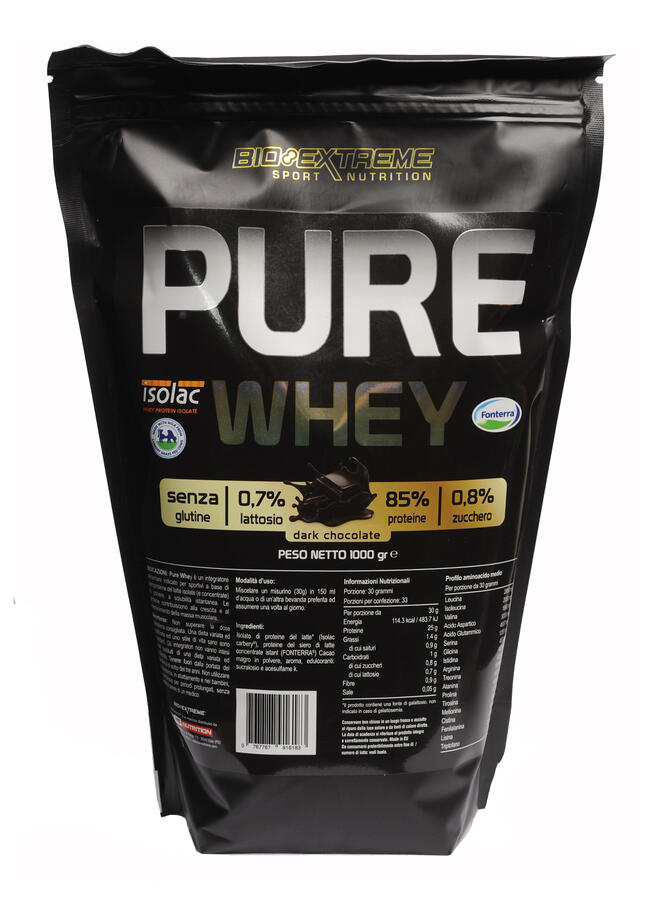 PURE WHEY - Proteine del latte isolate e proteine del siero del latte concentrate - 1 kg