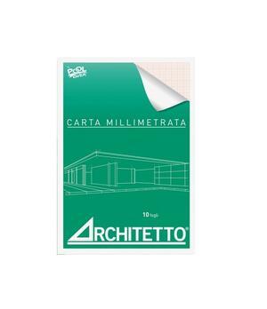 BLOCCHI CARTA MILLIMETRATA ARCHITETTO A4